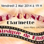 Dîner Concert Clarinette au restaurant 7ème Art le vendredi 2 mai 2014