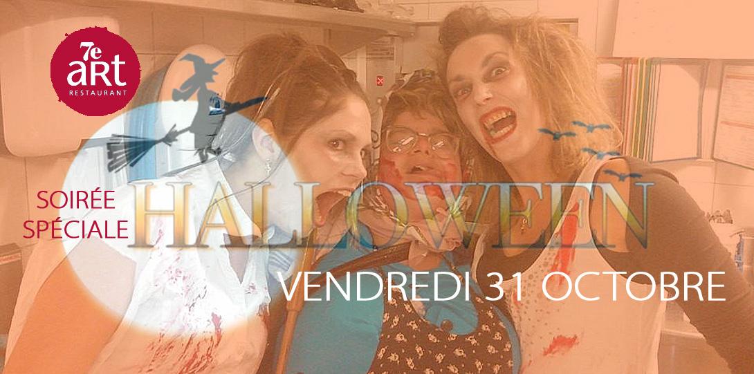 Soirée Halloween Vendredi 31 Octobre au Restaurant-Brasserie du 7ème Art