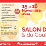 Suivez-nous au Salon des Vins et du Goût les 15 et 16 novembre 2014 à Audincourt