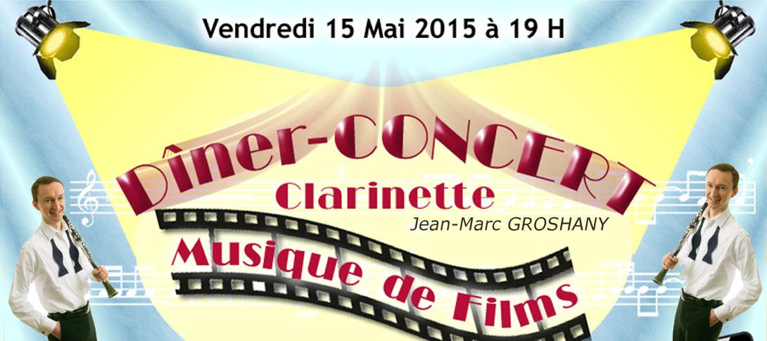Dîner Concert Clarinette au restaurant 7ème Art à Audincourt