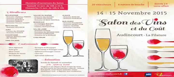 Au Salon des Vins et du Gout les 14 et 15 novembre 2015 à Audincourt
