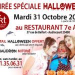 Halloween au Restaurant du 7ème Art le 31 Octobre 2017