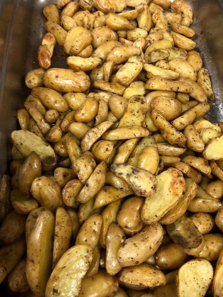 Pommes de terre grenaille et sel de Guérande