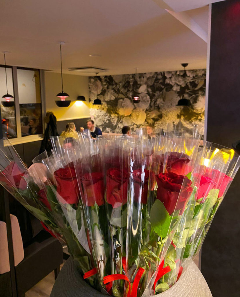 Roses locales pour Saint Valentin